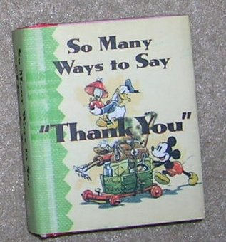 So Many Ways to say Thank You  -Disney Gift Book