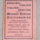 Midget English /  Italian Dictionary - Little Book