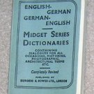 Midget English /  German Dictionary - Little Book