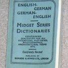 Midget English /  German Dictionary - Little Book