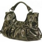 Gorgeous patent hobo handbag purse with accent detailing