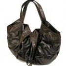 Stylish patent hobo handbag purse with alligator embossed detailing