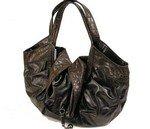 Stylish patent hobo handbag purse with alligator embossed detailing