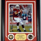 Matt Leinart Autographed Photo Mint w/ 2 24KT Gold Coins