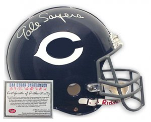 Gale Sayers Autographed Mini Helmet - Replica