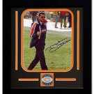Mike Ditka Autographed Team Medallion Framed Flipping The Bird Photograph - 8 x 10