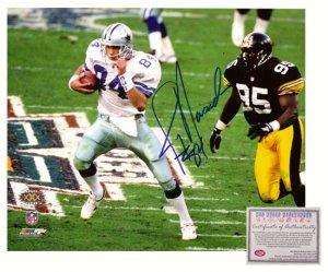 Autographed Jay Novacek Photo - 8x10 Super Bowl XXX
