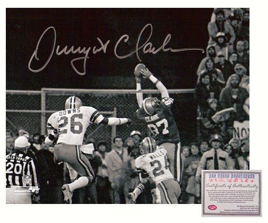 Dwight Clark Autographed Photo - 16x20 The Catch