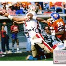 Autographed Dwight Clark Photo - 8x10 Catch vs Denver Broncos