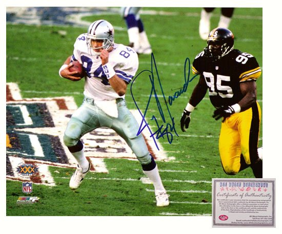 Jay Novacek Autographed Photo - 16x20 Super Bowl XXX