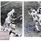 Roger Staubach & Drew Pearson Dual Autographed Photo - Hail mary 16 x 20