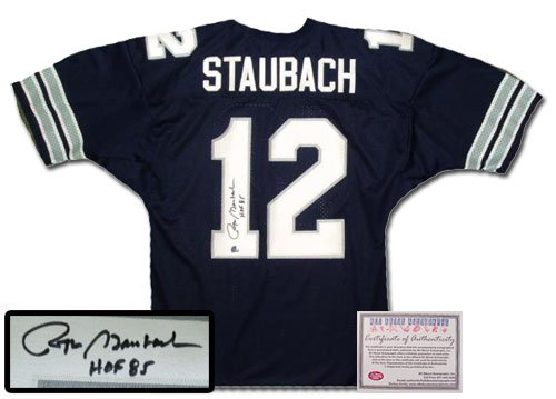 Roger Staubach Autographed Jersey - Authentic