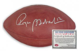 Roger Staubach Autographed Football