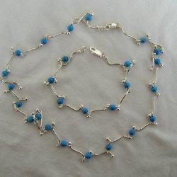 Silver-Turquoise balls set