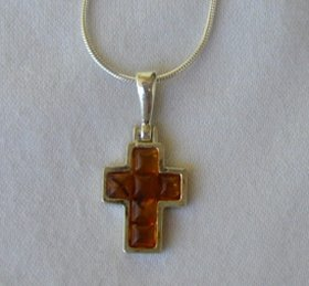 Mini amber cross