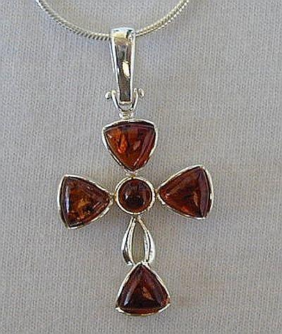 Amber croos -flower shape