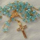 Aqua golden Rosary