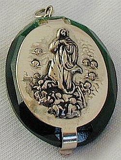 Mini rosary box-olive green