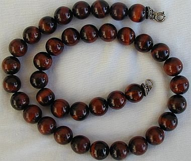 Brown cat eye necklace