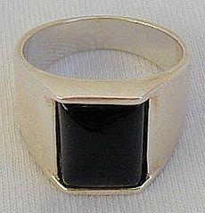Onyx man ring-D