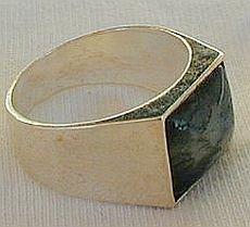 Malaysian agate man ring-D