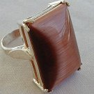 brown cat eye ring