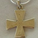 Silver cross patte