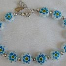Light blue morano bracelet
