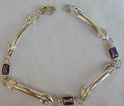 Purple silver bracelet