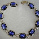 Blue cat eye silver bracelet.