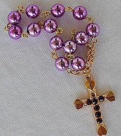 Purple mini Rosary