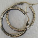 Engraved hoops earrings