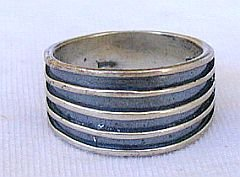 Strips silver ring-A5