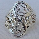 Jungle silver ring