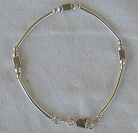 Cubes&srips silver bracelet