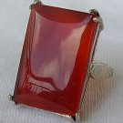 RC-red agate silver ring