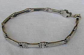 Silver bracelet-D