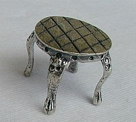 Coffee table silver miniature