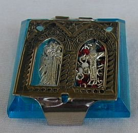 Turquoise mini rosary box
