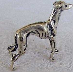 A Greyhound silver miniature
