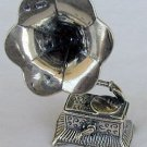 Old gramophone silver miniature