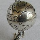 Silver globes miniature
