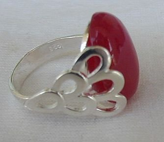 Red and silver ring AB