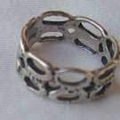 Silver holes ring