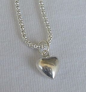 Mini heart silver pendant