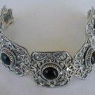 Onyx magic silver bracelet
