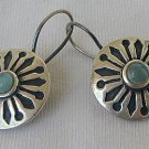 Light blue black earrings