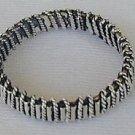 Men silver strips ring