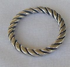 Silver band ring-C