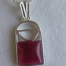 Mini red window pendant